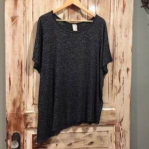 Oversized asymmetrical tunic shirt